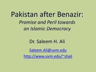 Saleem.Ali@uvmuvm/~shali