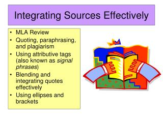 Integrating Sources Effectively