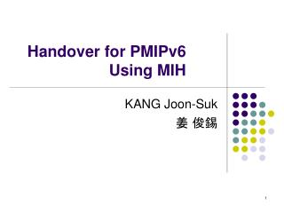 Handover for PMIPv6 