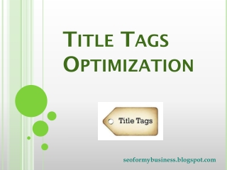Title Tags Optimization