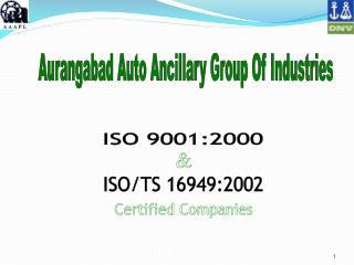 Aurangabad Auto Ancillary Group Of Industries