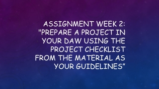 Assignment Week 2