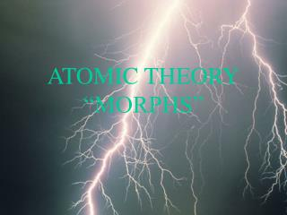 ATOMIC THEORY