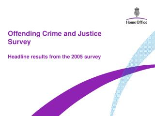 offending crime and justice survey
