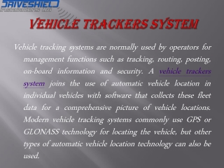 Know about the best security for vehicles at vehicle tracker