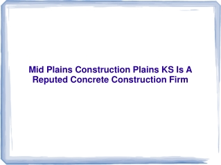 Mid Plains Construction Plains KS