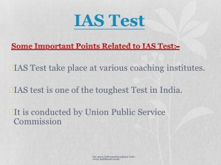 Get the Knowledge about IAS Test