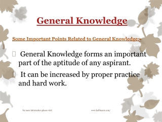 Increase your General Knowledge with us