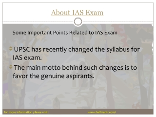 Best guide that gives complete information about ias exam