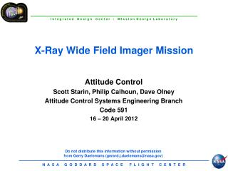 X-Ray Wide Field Imager Mission