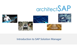 Introduction to SAP Solution Manager
