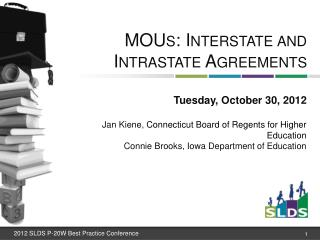 MOUs: Interstate and Intrastate Agreements