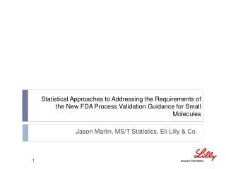 Jason Marlin, MS/T Statistics, Eli Lilly