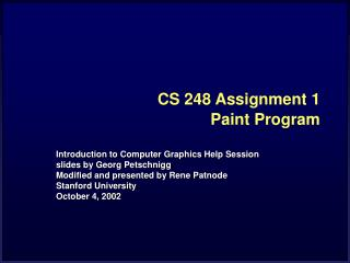 CS 248 Assignment 1