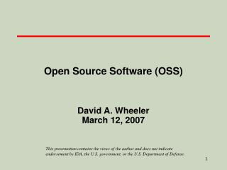 open source software oss