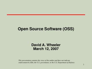 open source software oss