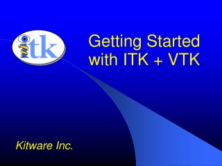getting started with itk  vtk