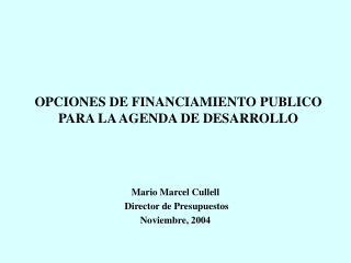 FINANCIAMIENTO PUBLICO Y DESARROLLO