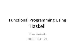 functional programming using haskell