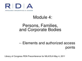 -- Elements and authorized access points