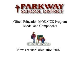 New Teacher Orientation 2007
