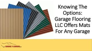 Garage Flooring LLC Mats