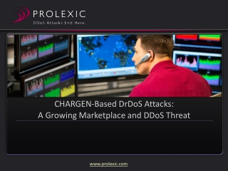 CHARGEN-Based DrDoS Attacks: A Growing Marketplace and DDoS