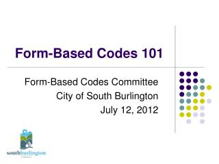Form-Based Codes 101