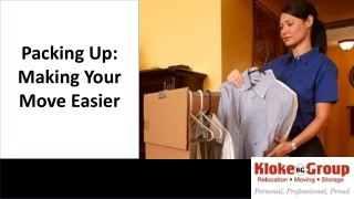 Packing up: Making your move easier