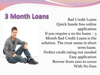 3 Month Bad Credit Loans, Easy Way Up To