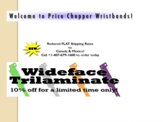Find best quality Wrist Band from Price Chopper Inc.