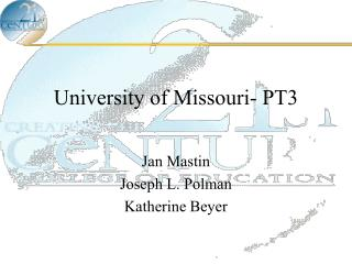University of Missouri- PT3