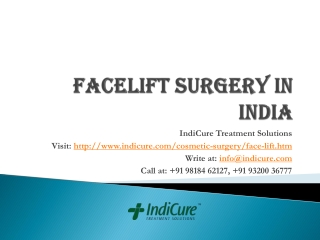 Facelift Surgery in India