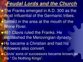 Feudal Lords and the Church