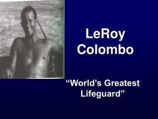 LeRoy Colombo