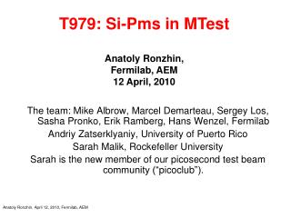 Anatoly Ronzhin, April 12, 2010, Fermilab, AEM