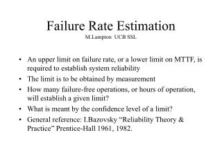 Failure Rate Estimation