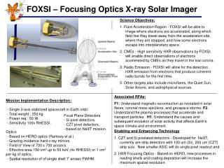 FOXSI – Focusing Optics X-ray Solar Imager
