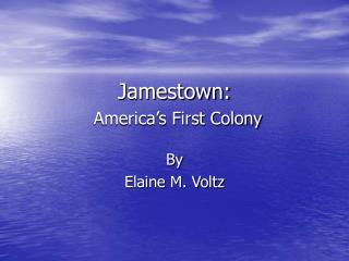 Jamestown: