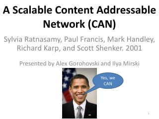 A Scalable, Content Addressable Network