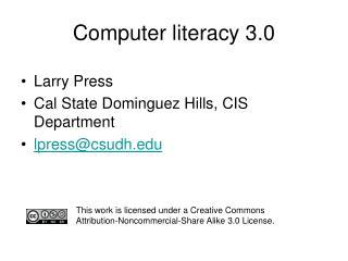 Computer literacy 3.0