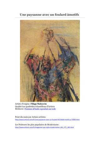 Une paysanne avec un foulard à motifs -- Artisoo