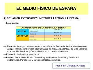 EL MEDIO FÍSICO DE ESPAÑA