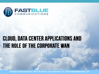 Cloud, Data Center Applications