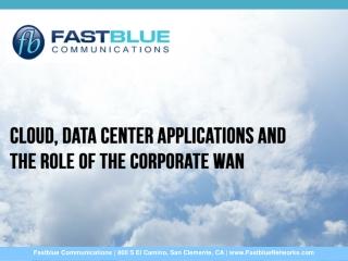 Cloud, Data Center Applications