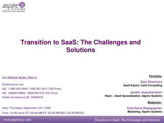Transition to SaaS: The Challenges and Solutions