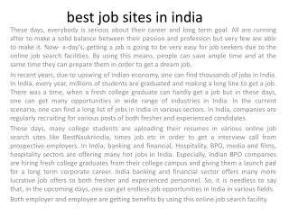best job websites in india