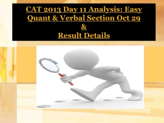 CAT 2013 Day 11 Analysis