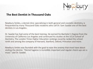The Best Dentist in Thousand Oaks