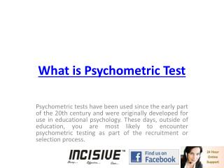 what is psychometric test